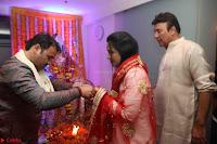 Sachin Tendulkar with his wife at Mata ka Jagrata hosted by Anu Malik 28.JPG
