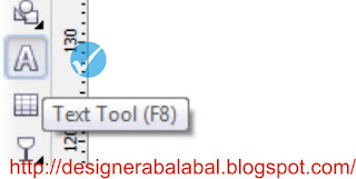 fungsi text tool di corel draw
