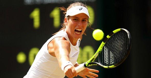 No.6 seed Johanna Konta Battle Past  No.21 seed Caroline Garcia, with a 7-6(3), 4-6, 6-4 Win