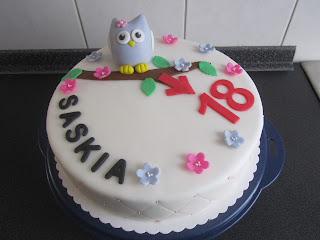 Eulen Torte Zum 18geburtstag Ankes Torten Wunsch