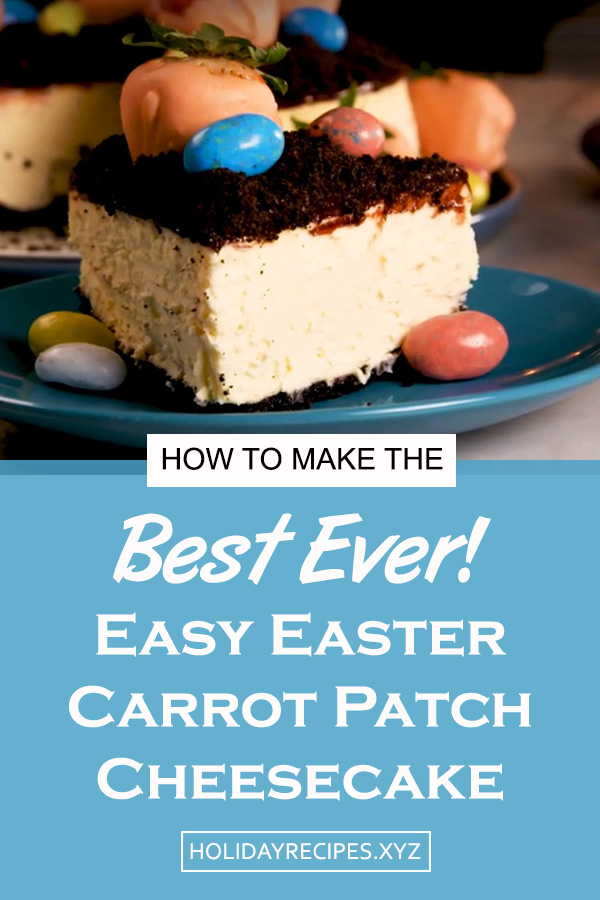The CUTEST dessert we've ever made! These Easter Carrot Patch Cheesecake are easy dessert recipe | easy easter cake recipe | cheesecake recipe | easter dessert recipe | easter treats recipe #easter #dessert #cheesecake #eastercake #easterdessert #eastercheesecake #cheesecakerecipe #eastertreats #carrot