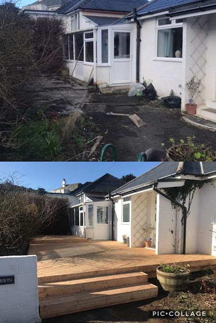 Before and after deck image