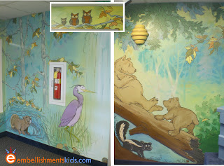 forest animal mural by EmbellishmentsKids.com