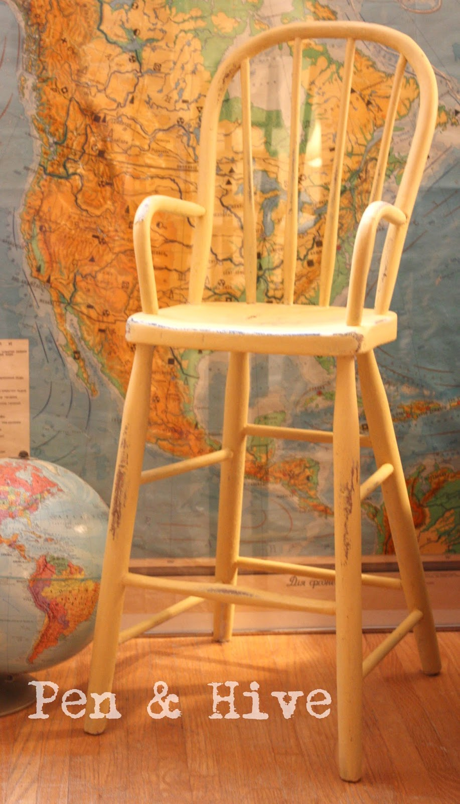 Now that the bees are taken care of for the next few months, and I've put  the garden to bed, I can turn my attention to the inside of my house just  ... - Pen & Hive: Updating An Antique High Chair With An Old Fashioned Finish
