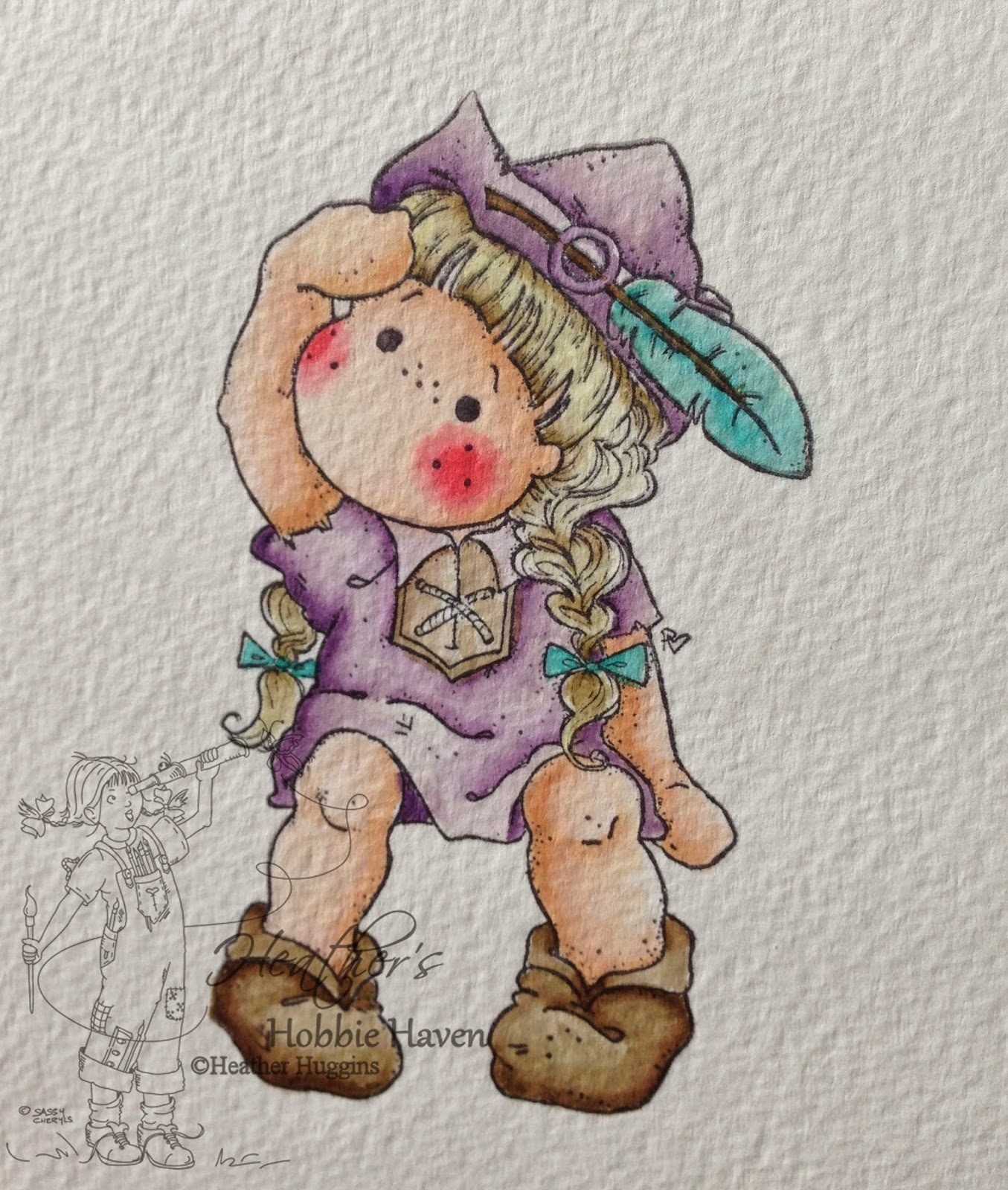 Heather's Hobbie Haven - Water Coloring Beanstalk Tilda