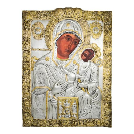"Icon of Our Lady of the Hundred Doors ""Panagia Ekatontapilion"" Paros"