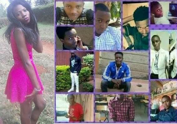 Kenyan lady posts photos of 11 ex-boyfriends who broke her heart on social media