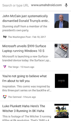 Menyembunykan Artikel Rekomendasi Chrome Android