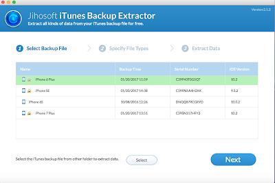 Jihosoft iPhone Backup Extractor Mac 2.1.2 full