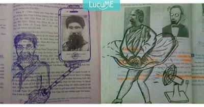 10 Gambar Jahil di Buku Pelajar Kreatif Ini Efektif Usir Rasa Bosan di Kelas
