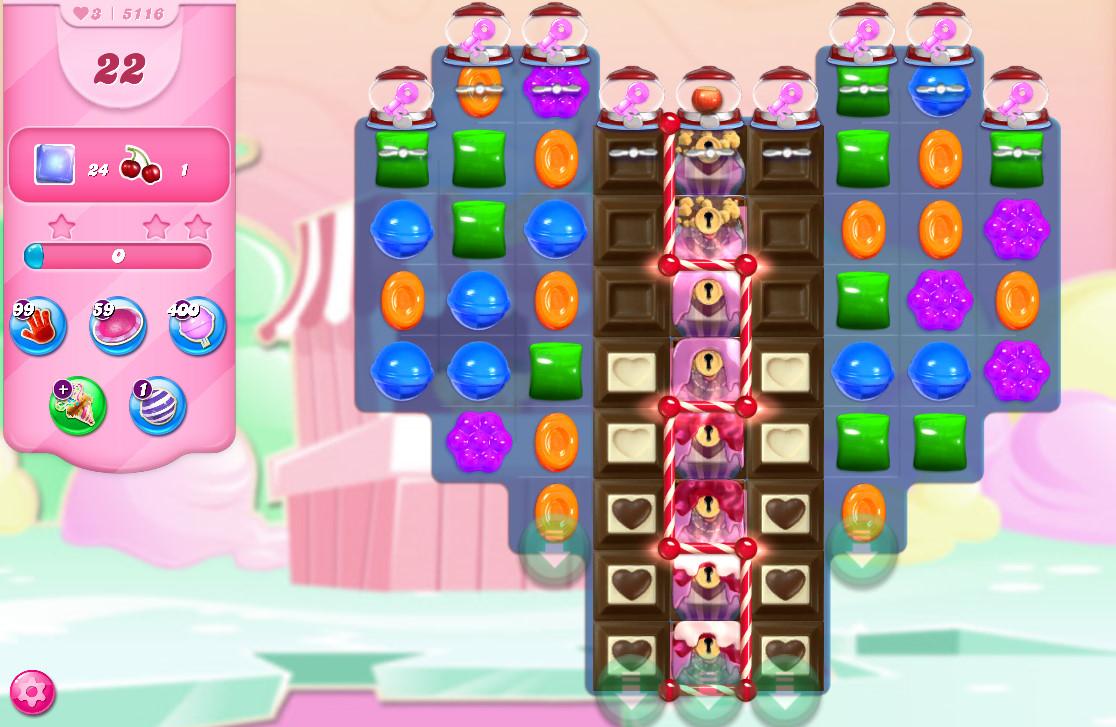 Candy Crush Saga level 5116
