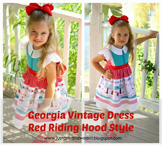 Georgia Vintage Dress- Red Riding Hood Style