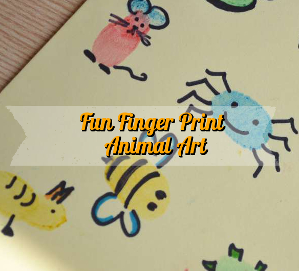 finger painting animals for kids