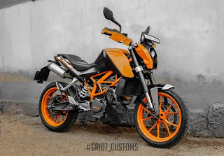 KTM Duke 200 GRID7 Customs Exhaust Systems
