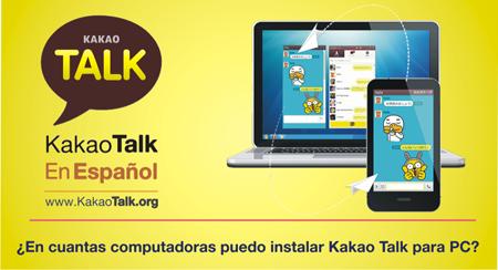 En cuantas computadoras puedo instalar Kakao Talk para PC