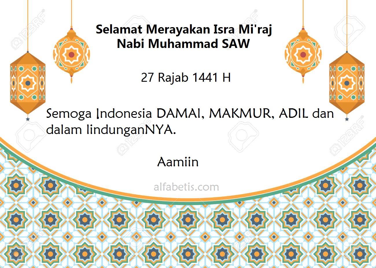kartu kata-kata isra mi'raj nabi muhammad terbaik dan paling menarik