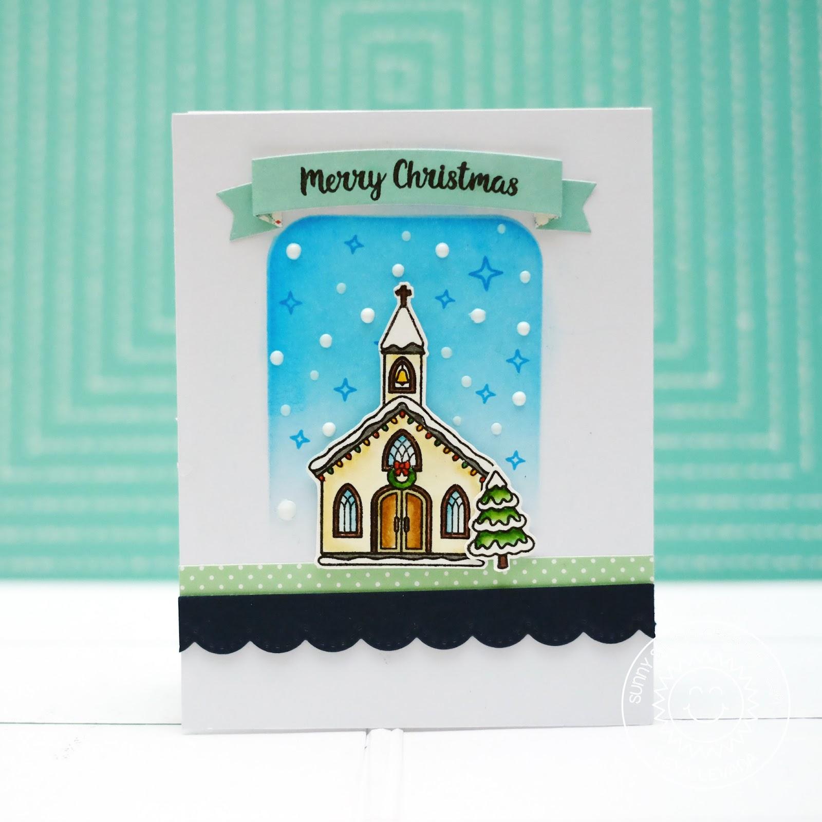 Lexa\'s Artsy Corner: Winter Chapel Christmas Card