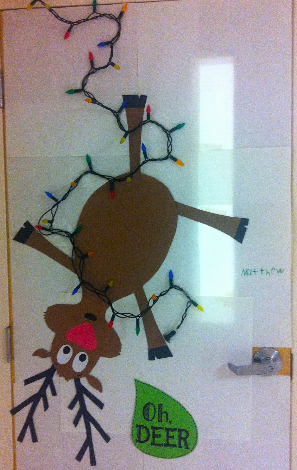 reindeer christmas door decorating ideas christmas door ...