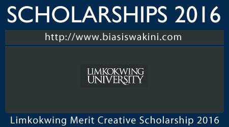 Limkokwing Merit Creative Scholarship 2016