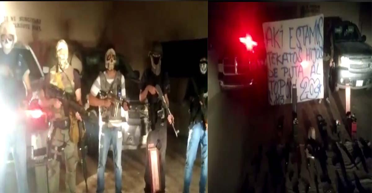 """VIDEOS: Sicarios de la """"AA"""" retan al """"topon"""" a los """"Mexicles"""", presumen armas de alto poder en Ciudad Juárez"""