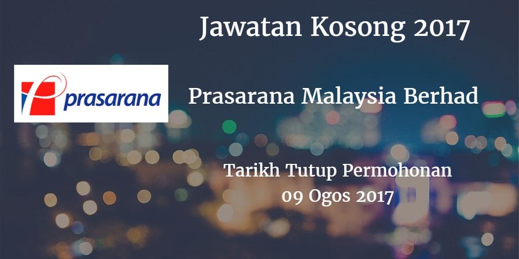 Jawatan Kosong Prasarana Malaysia Berhad 09 Ogos 2017
