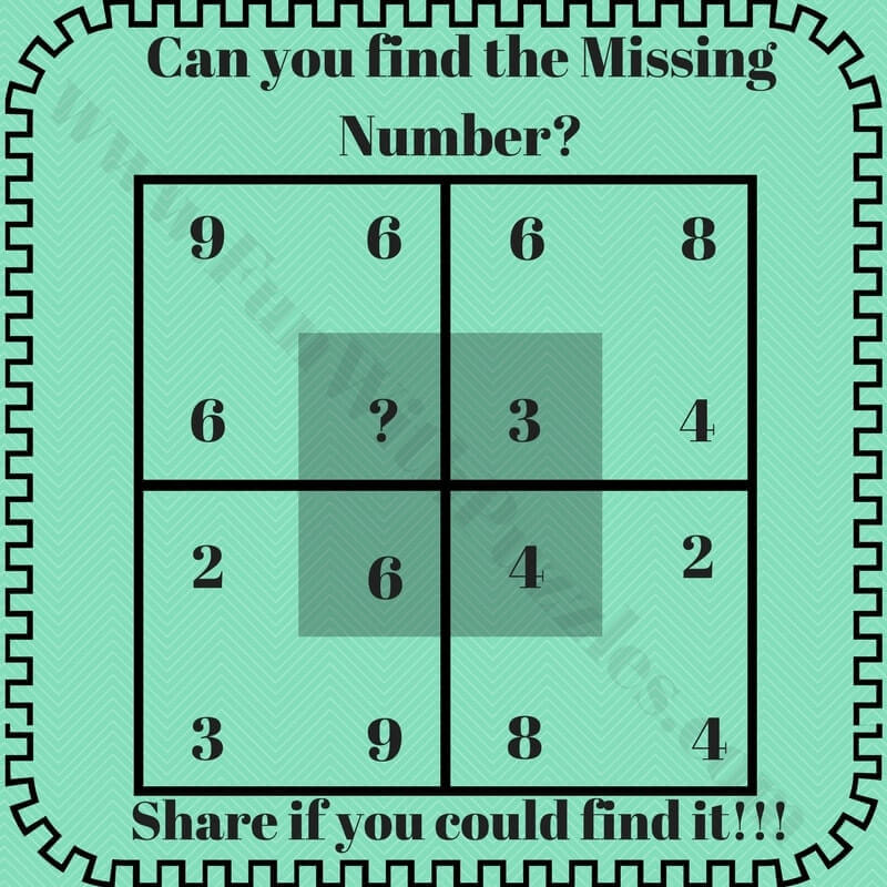 Missing number puzzles with answers - Fun With Puzzles