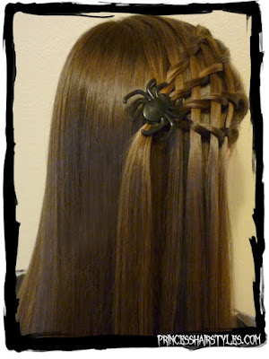 #Halloweenhairstyle! Cute spider web hair tutorial. Easy!