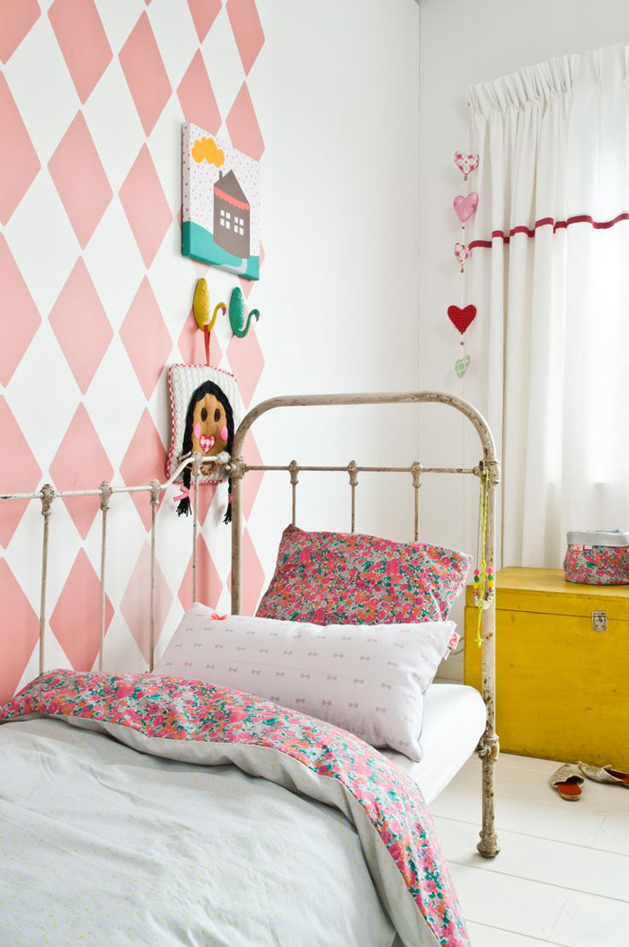 Blush Pink in children's rooms - bibbelote bedding