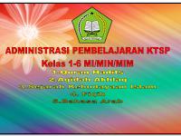 Administrasi pembelajaran Madrasah Ibtidaiyah  (MI )Kelas 1-6 Kurikulum KTSP format Word