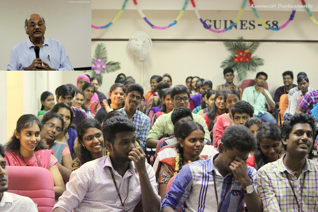 Section of the NSS Students listening to Prime Point Srinivasan at Anna University