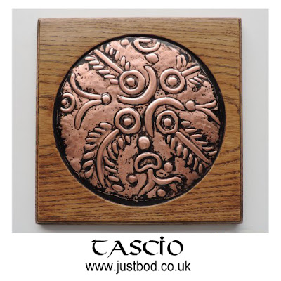 Tascio hand sculpted celtic coin plaque