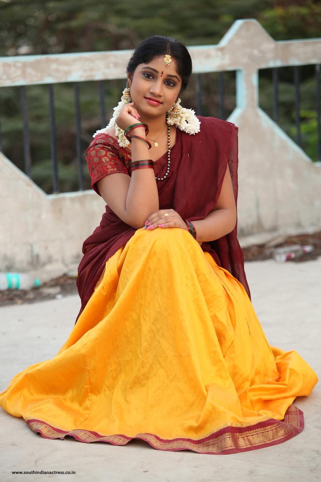 south indian actress half saree photos