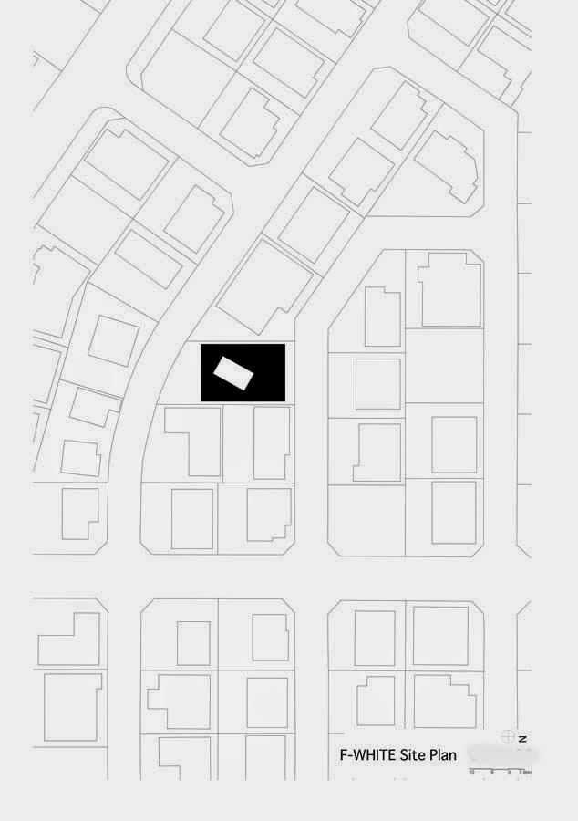 plano del barrio urbano donde se levanta la residencia en tokio
