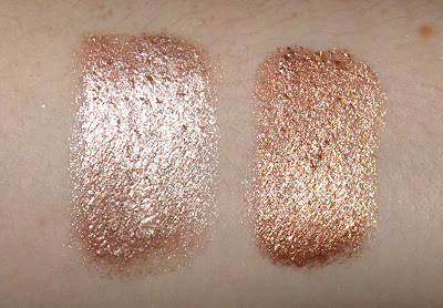 Australis Metallix Metallic Eye Shadows Guns and Rose Petals Gold Gaga review swatch swatches