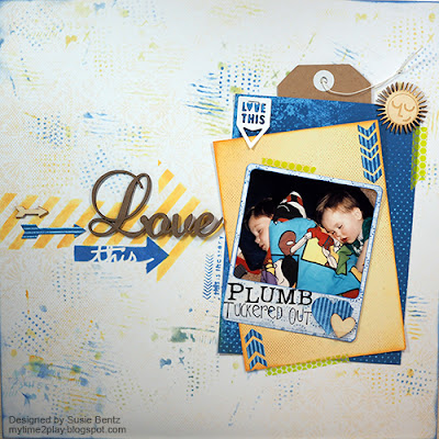 Love This Scrapbook Page featuring Mulberry Paper Pack and Powderpuff Chalk Inks by Quick Quotes designed by Susie Bentz