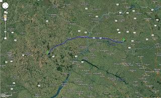 Trajeto detalhado Itapagipe/MG/Brasil a Água Clara/MS/Brasil - 417 km.