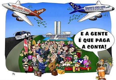 Custo dos Parlamentares no Brasil - Blog do Asno