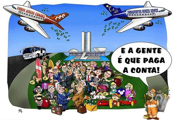 Resultado de imagem para O CUSTO do parlamentar no brasil