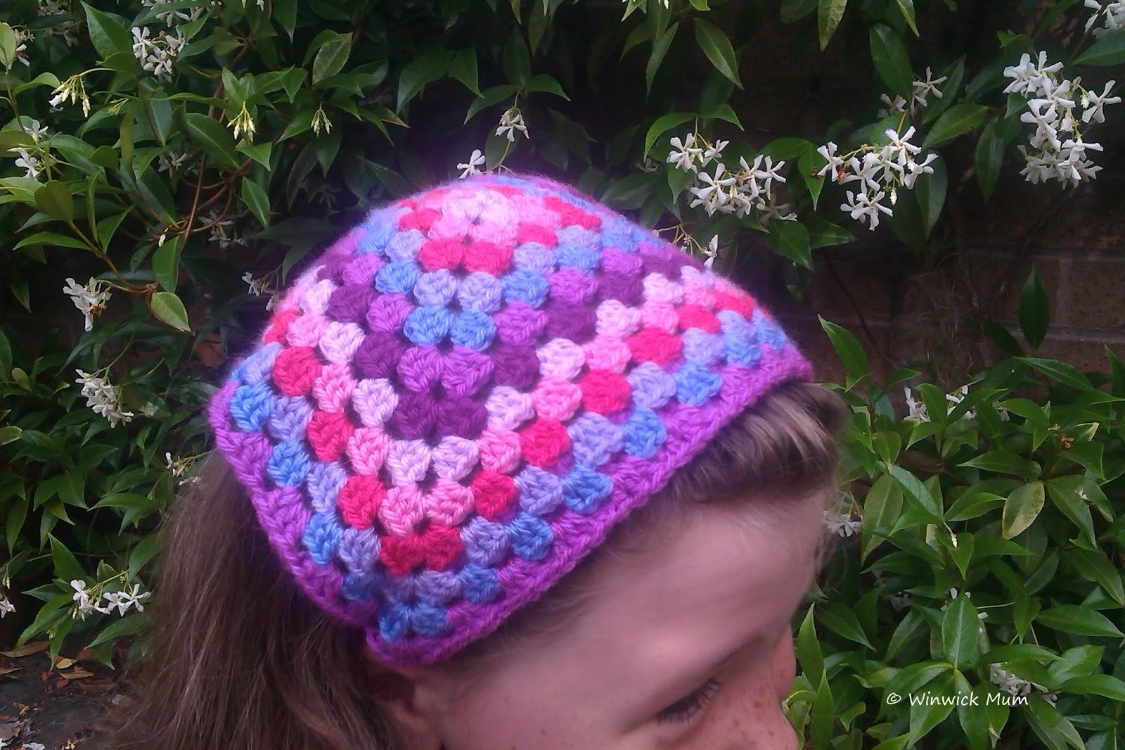 Winwick Mum: Headscarf Hairband (or Headband) free crochet tutorial