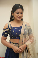 Niveda Thomas in Lovely Blue Cold Shoulder Ghagra Choli Transparent Chunni ~  Exclusive Celebrities Galleries 074.JPG