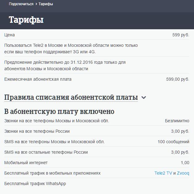 Tele2 запустил неповторимый тариф для жителей столицы