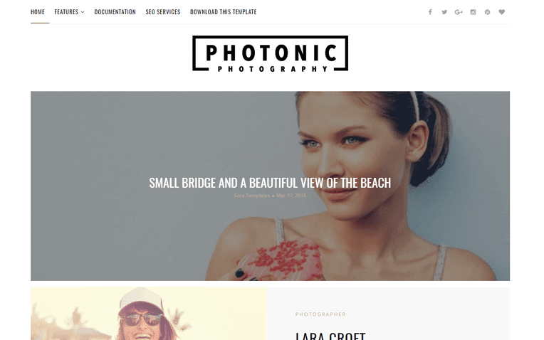 Photonic Photography Free Blogger Template