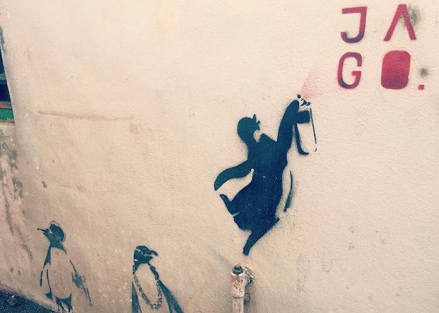 Penang Street Art Penguin Jago