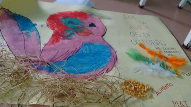 Painel Dia das Aves com Pintura e Colagem