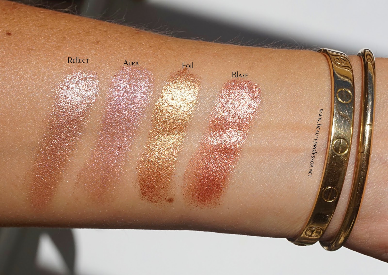 hourglass scattered light glitter eyeshadow swatches