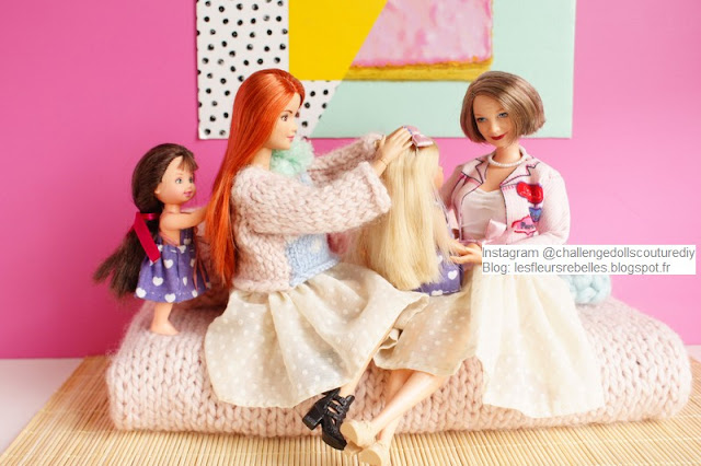 Famille de Barbie poupées Made to move, Happy Family, Evi Love