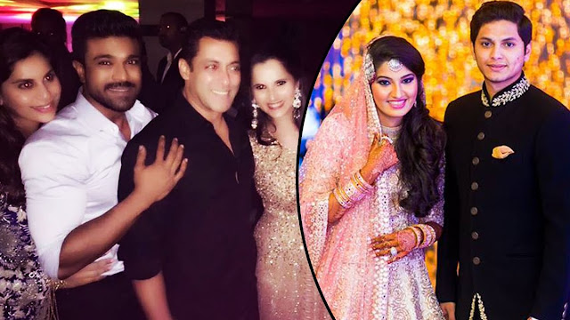 Celebrities at Sania Mirza's Sister Sangeet Ceremony