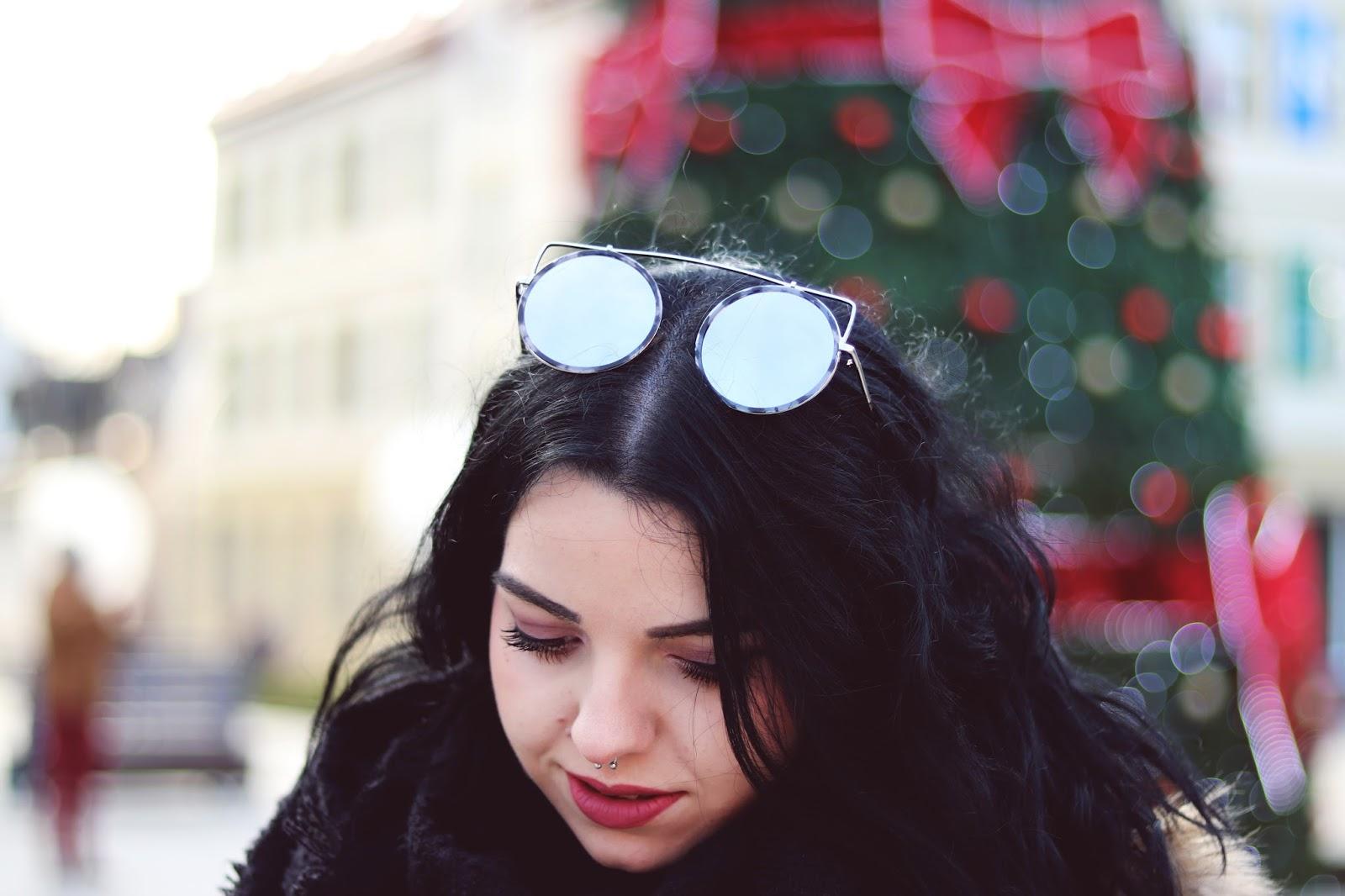 marmurkowe okulary Dresslily, marble round sunglasses