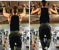 Wide grip weighted pull up