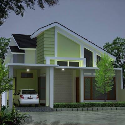 Desain rumah sederhana hijau